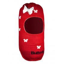 Шапка-шлем для девочек красного цвета ЛОЛИТА