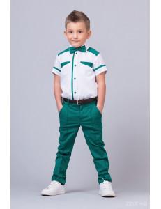 """Костюм для мальчиков изумрудного цвета из трех предметов """"Smart Color"""""""