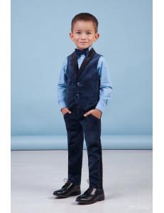 """Костюм для мальчиков синего цвета из бархата """"Лаки бой"""""""