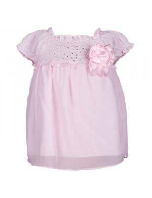 Туника-сарафан розовый на резиночке
